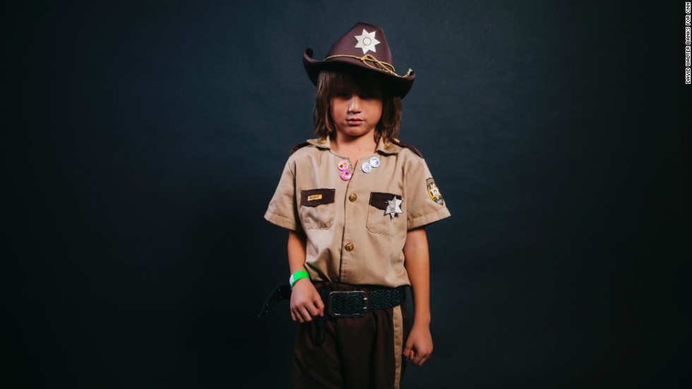 "Sal ""Junior"" Martinez, from Columbus, Ohio, dressed as Rick Grimes."