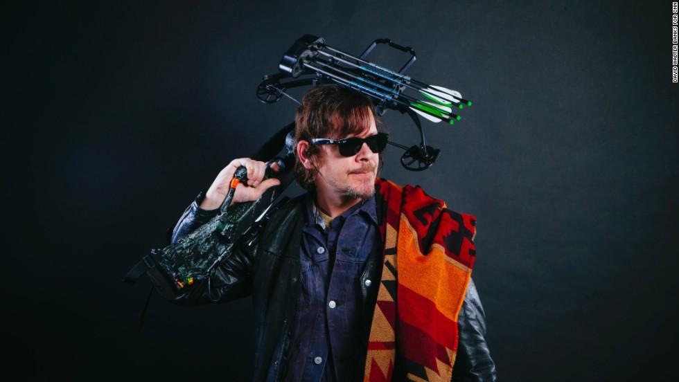 Steve Malec dressed as Daryl Dixon.