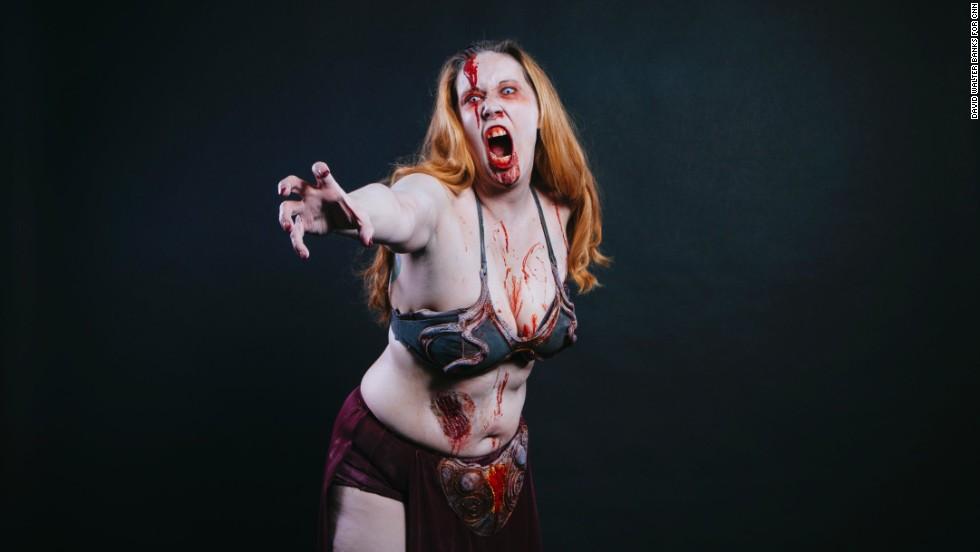 April Kaszer, from Atlanta, dressed as Zombie Princess Leia.