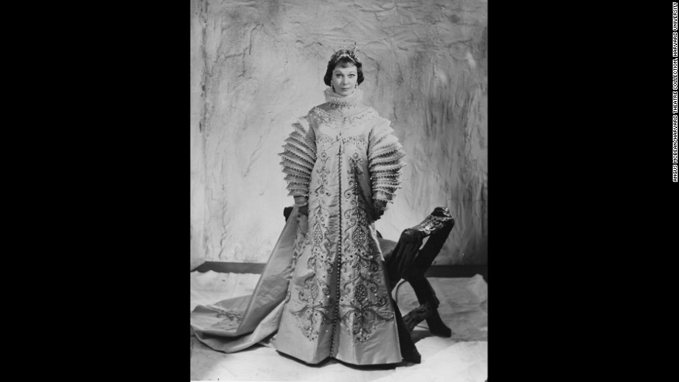 """McBean captured the 47-year-old Leigh in costume as Viola, the lead character in Shakespeare's """"Twelfth Night,"""" when she toured Australia in 1961. With Olivier out of her life at the time, Leigh was getting the full attention of the media as she toured, Bean said.<br /><em>Image courtesy of """"Vivien Leigh: An Intimate Portrait"""" (Running Press)</em>"""