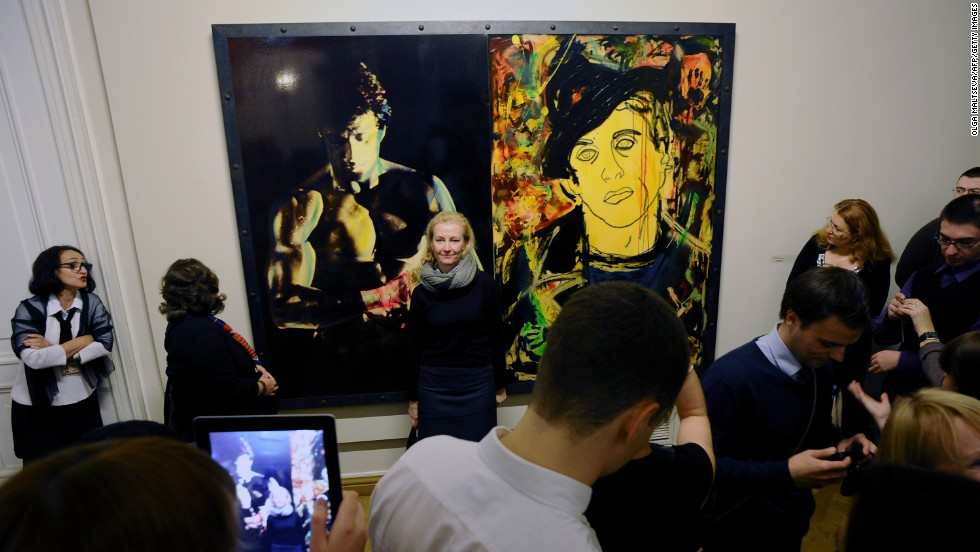 """Visitors so far included 20-year-old movie fan Daniel Schneider, visiting from Moscow. On Stallone's art, Schneider said: """"It's not good. But there are some interesting elements."""""""