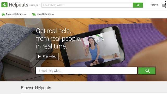 On Google Helpouts, people can pay to video chat with experts in various categories, including home improvement and cooking.