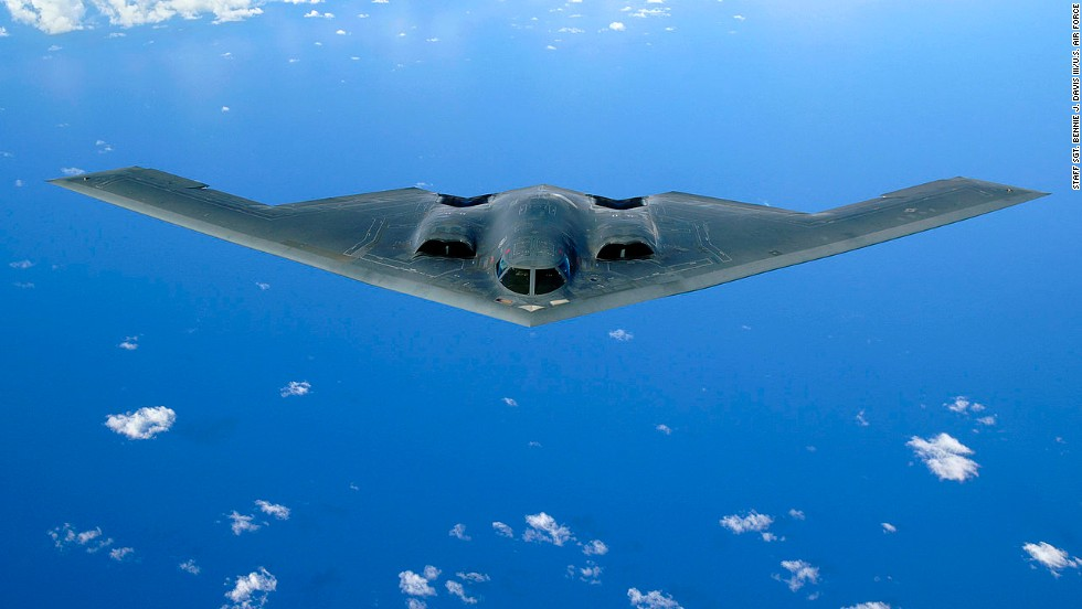 A B-2 Spirit soars over the Pacific Ocean in May 2006.