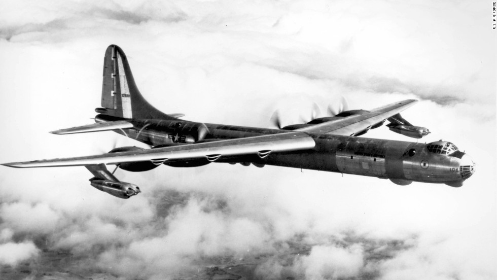 The Convair RB-36D was the jet-augumented version of the U.S. Air Force's intercontinental strategic bomber. The bomb bay was fitted with 14 cameras, and the No. 2 bay was used to carry 100-pound photo flash bombs for nighttime aerial photography.