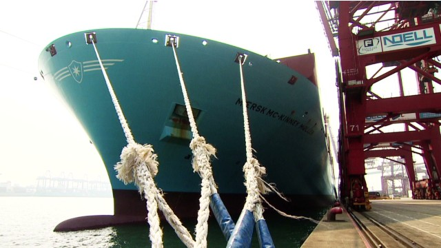 Shipping giant's record-breaking vessel
