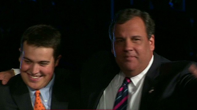 Was Christie's speech an announcement?