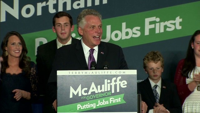 McAuliffe narrowly wins Virginia