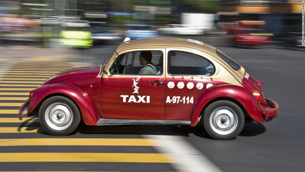 "Mexico City retired its (in)famous VW Beetle taxis last year, marking the end of a pollution-belting era for the city. Hotels.com voters don't seem to mind. Bugs or no bugs, Mexico City's taxis tied for fifth spot on the website's survey of the ""world's best taxis."""