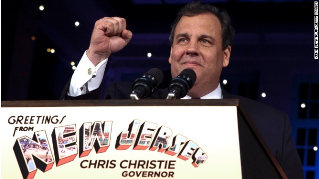 New Jersey Gov. Chris Christie, a Republican, won a second term in a traditionally blue state.