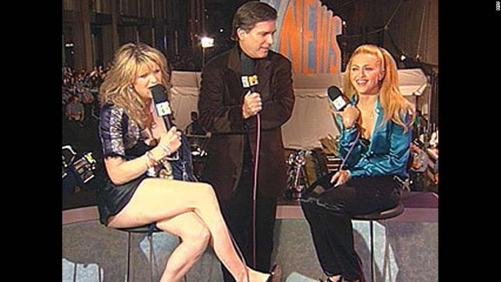 "Things got catty when Courtney Love crashed Madonna's red carpet interview during the 1995 MTV Video Music Awards, causing Madonna to quip that Love was ""in dire need of attention right now."""