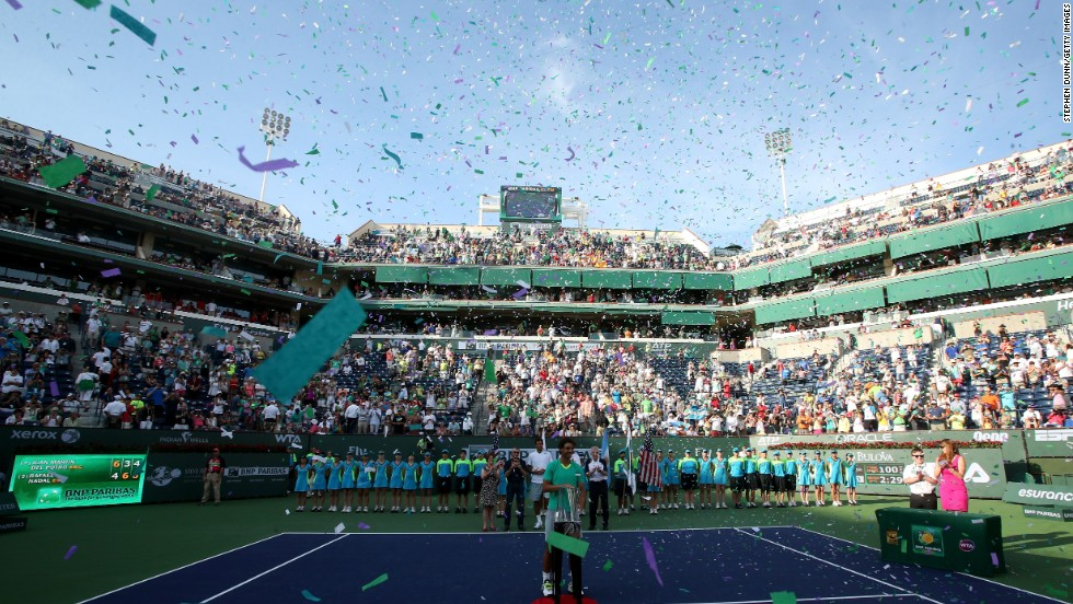 """The trophies continued as Nadal followed up his Brazil success by winning in Mexico and then at Indian Wells too. His third final clash with an Argentinian resulted in victory over Juan Martin del Potro as Nadal became the player with the most Masters 1000 wins in history. """"Seriously, it's impossible to have better comeback, no?"""" he said."""