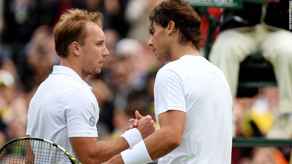 Nadal's spectacular return came crashing to a halt when he lost to Belgium's 135th-ranked Steve Darcis on the opening day of Wimbledon 2013 -- the Spaniard's second successive humbling at the London event after losing to Lukas Rosol round two in 2012. The deserved defeat was Nadal's first in the opening round of a grand slam.
