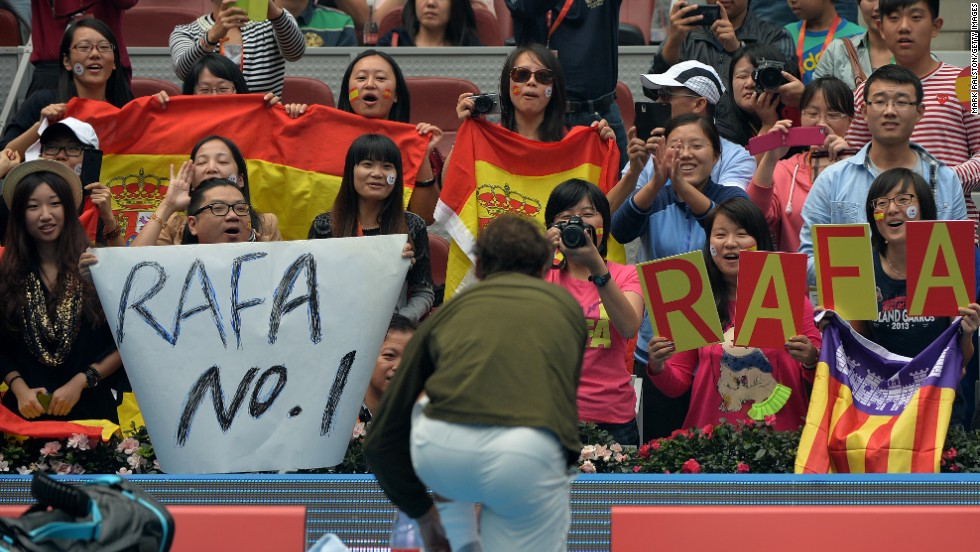 """Having steadily climbed back up the rankings, Nadal returned to the No. 1 spot in unwanted circumstances -- after Tomas Berdych retired through injury in the semifinals of October's China Open. """"(This is) one of the best years of my career without any doubt,"""" Nadal said later. """"It sure is special to be back to the top position of the rankings after more than a half year without playing tennis."""""""