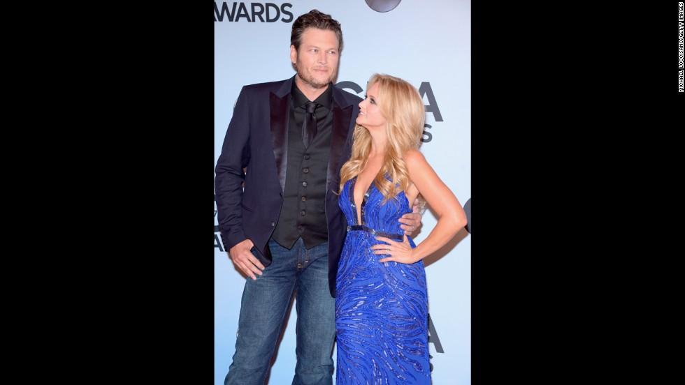 Blake Shelton and and his wife, Miranda Lambert