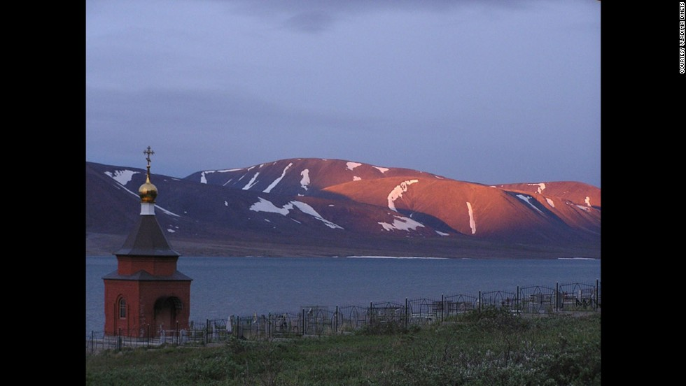 Russian-born Dinets loves the Chukchi Peninsula, the remotest and most fascinating part of Siberia to him. A Russian chapel on a remote fjord is shown here.