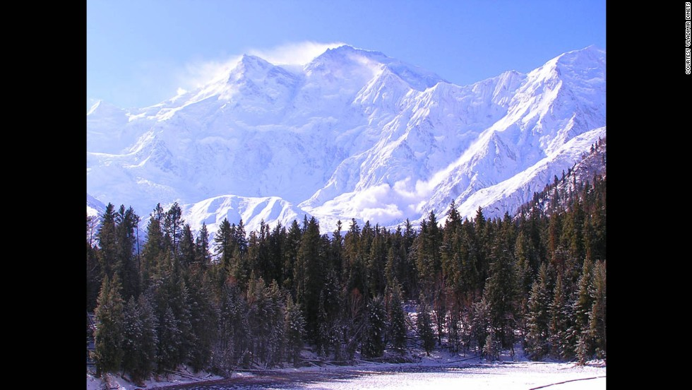 The world's most scenic road crosses an area of stunning cultural diversity. It's not always safe, Dinets says, but it's a great adventure. Nanga Parbat, the westernmost Himalayan peak, is shown here.