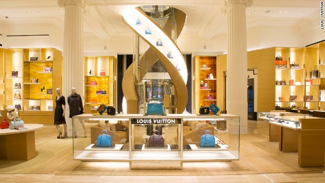 "Louis Vuitton unveiled their ""Townhouse"" at London's historic department store, Selfridges Thursday night."