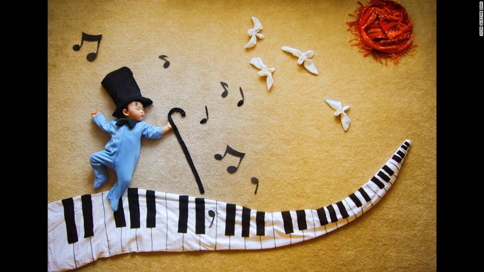 In a musical wonderland, Wengenn dances to the tunes.