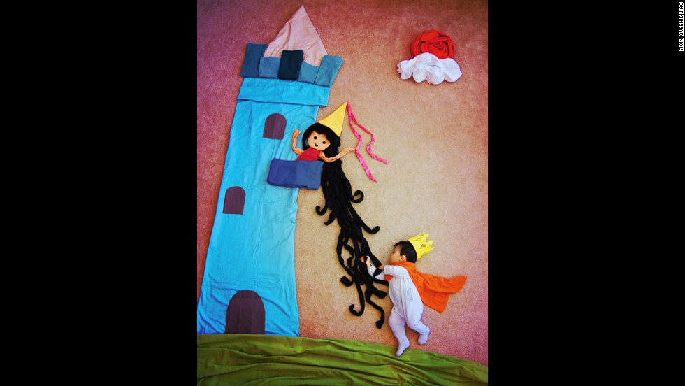 Equipped with a onesie and a crown, this Prince Charming will rescue his damsel in distress.