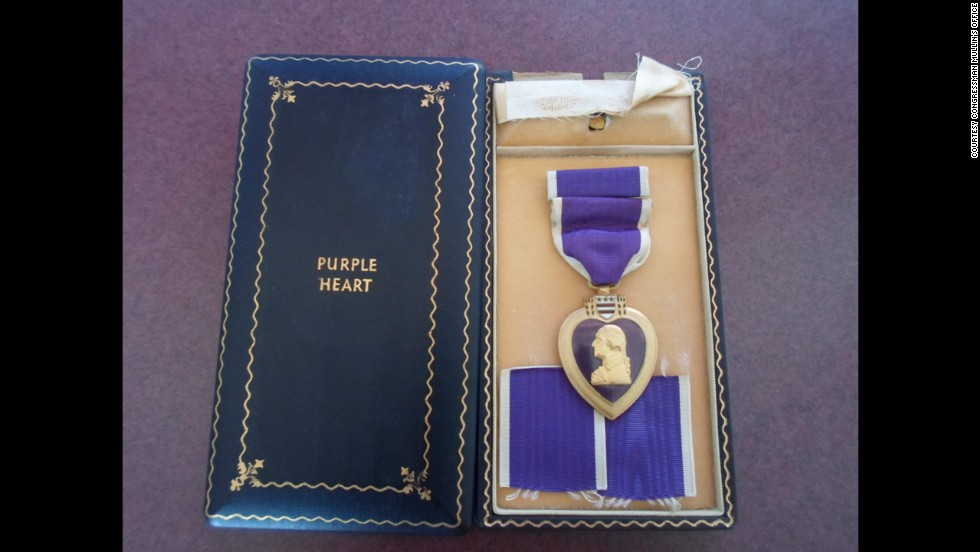 Merriott's Purple Heart was found for sale at a Glendale, Arizona, swap meet. It's a mystery how it got there.