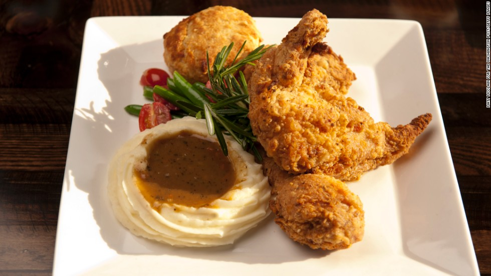"Few foodstuffs represent the South quite like perfectly fried chicken. Unfortunately, its deliciousness has been corrupted to ""elevate"" the dish in fancy restaurants, the handbook editors say. They recommend sticking to the basics -- brine the chicken overnight, use minimal buttermilk and flour and fry in a neutral oil."