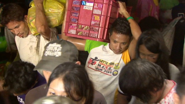 Typhoon survivors desperate for help