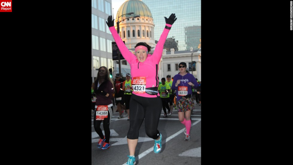 Privitera ran her first half-marathon in October 2013. She is already enrolled in another one for the spring.