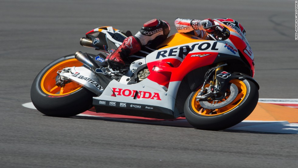 Marquez stormed to victory in only the second race of season at GP Circuit of the Americas. At 20 years and 63 days old, Marquez became the youngest winner of a MotoGP race beating U.S. rider Freddie Spencer's record (20 years, 196 days).