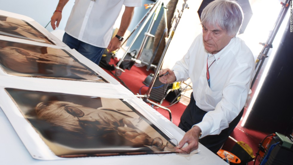 Ecclestone has worked with Opus Media to create a book which weighs 37 kilograms and is packed with 1200 photographs illustrating the history of F1.