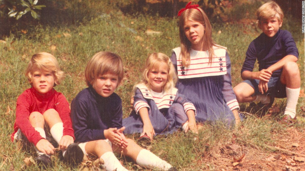 Turner's five children when they were young: From left, Rhett, Beau, Jennie, Laura and Teddy.