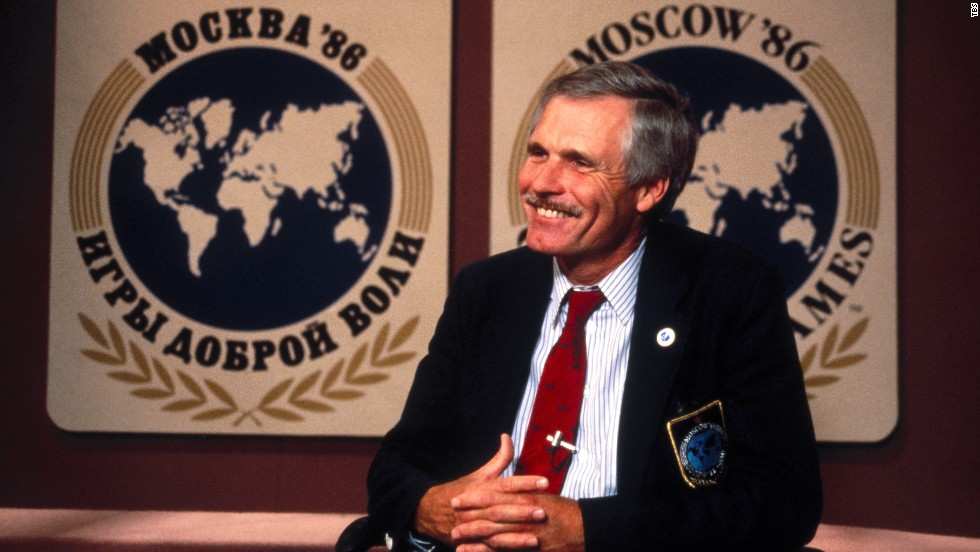 Turner created the Goodwill Games, an international sports competition similar to the Olympics, in 1986. The first games took place in Moscow. After that, the event was held every few years until ending in 2001.