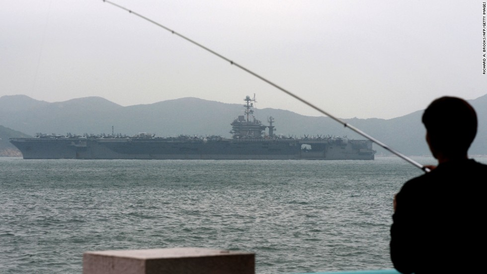 The USS George Washington sails out of Hong Kong on Tuesday, November 12, to join the rescue and relief operations in the Philippines. Defense Secretary Chuck Hagel ordered the aircraft carrier and several other U.S. Navy ships to head to the area as soon as possible.