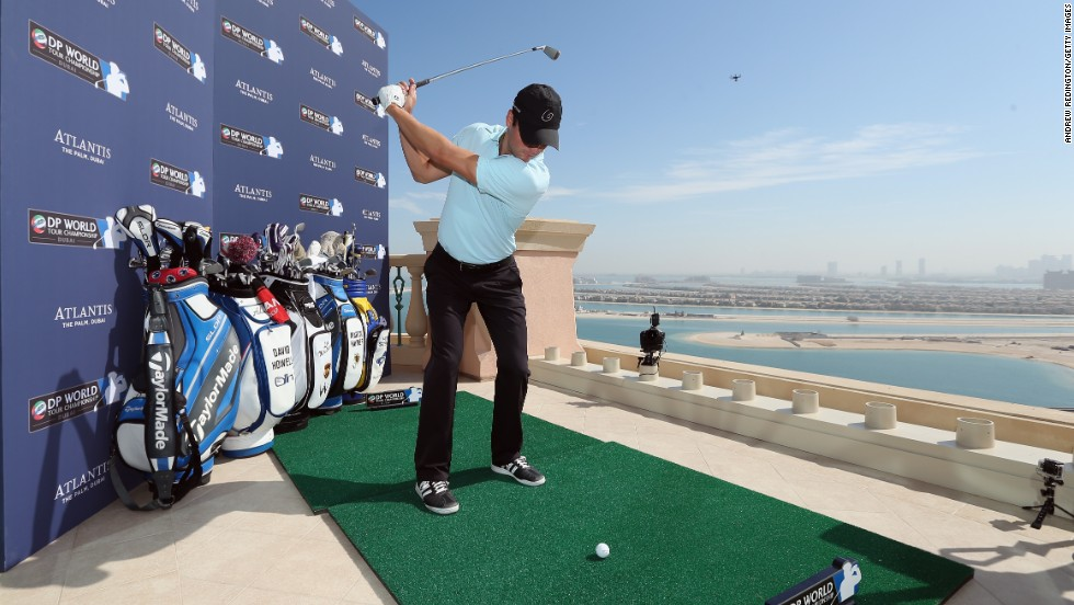 Former world No. 1 and 2010 PGA Championship winner Martin Kaymer was among the group of golfers who took on a shot to nothing, aiming for a tiny target 235 yards out to sea.