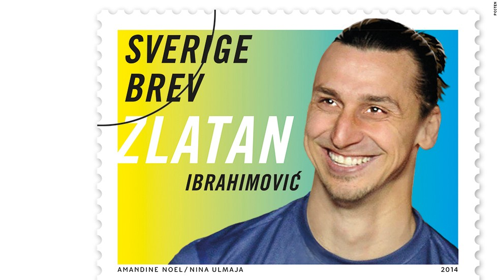 The Swedish Postal Service is set to honor its finest footballer with a range of his own stamps. Paris Saint-Germain star Zlatan Ibrahimovic, captain of the Swedish national football team, will adorn a new line of stamps set to be released in March 2014.