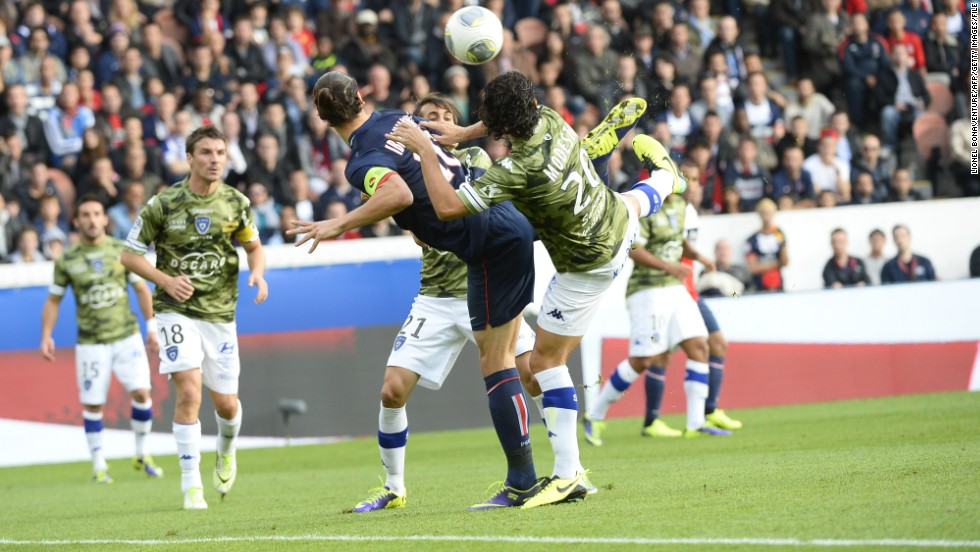 "The latest example of Ibrahimovic's unique flair came in a French league match against Bastia in October. ""Ibra"" performed a scorpionesque backheeled volley to direct a corner into the back of the net. The exquisite goal prompted one admirer to pen a complete flick book of the extraordinary goal."