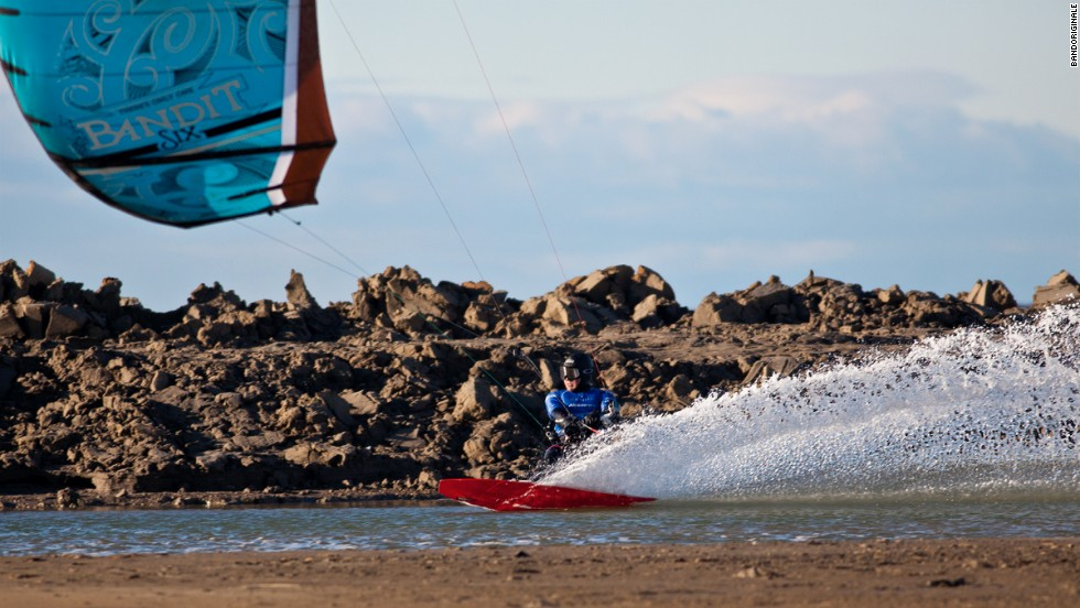 Since taking up kitesurfing 12 years ago, Caizergues has excelled by winning three world titles and two national championships.