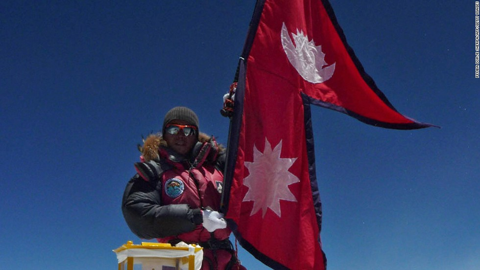 Its double triangles symbolize the peaks of the Himalayas. The sun and moon represent calm and resolve -- traits needed to tolerate the Everest-sized egos of those flag-planting foreign mountaineers.