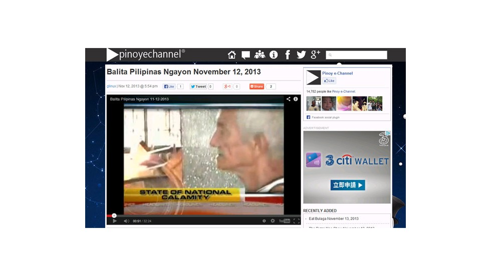 A man bearing a striking resemblance to 68-year-old Rogelio Tan was seen in a four-second clip on a GMA video posted to Pinoyechannel.