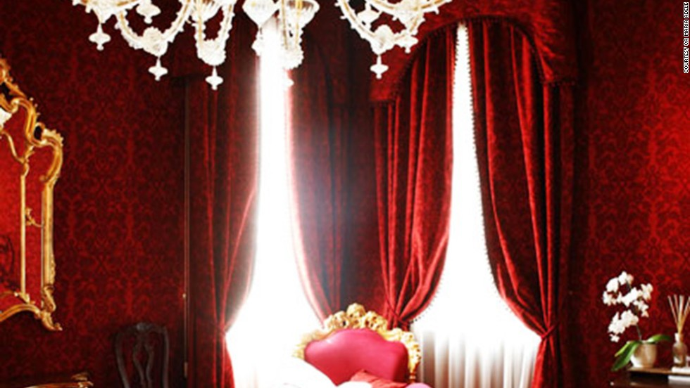 "<strong>Ca Maria Adele</strong> hotel in Venice, described by judge and burlesque dancer Immodesty Blaize as a ""fantasy cocoon,"" was one of the runners-up in the world's sexiest bedroom category."