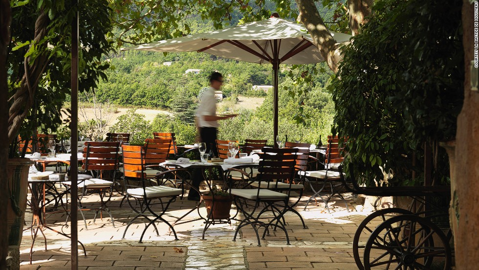 "The owner of <strong>La Bastide de Moustiers</strong>, located inside an inn in Provence, France, has been awarded more Michelin stars than any other chef in the world, and serves up ""show-stopping"" food, according to the judges in the Best Hotel Restaurant category. The restaurant ""is a love poem to the surrounding area, a gastronome's daydream that showcases the finest local produce in a daily changing menu of delectably inventive dishes."""