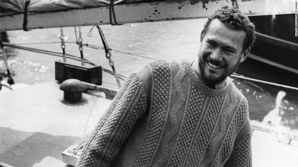 Britain's Robin Knox-Johnston was the first man to perform a singlehanded nonstop circumnavigation of the globe, in 1968.