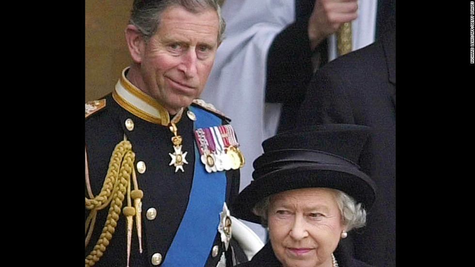 "Prince Charles follows his mother, Queen Elizabeth II, as they leave Westminster Hall in April 2002. The Prince of Wales has spent the past six decades living in his mother's shadow as the heir apparent to the throne. In 2013, he became the oldest ""monarch-in-waiting"" to the throne in almost 300 years. Here's a visual journey of Charles trailing his mother:"