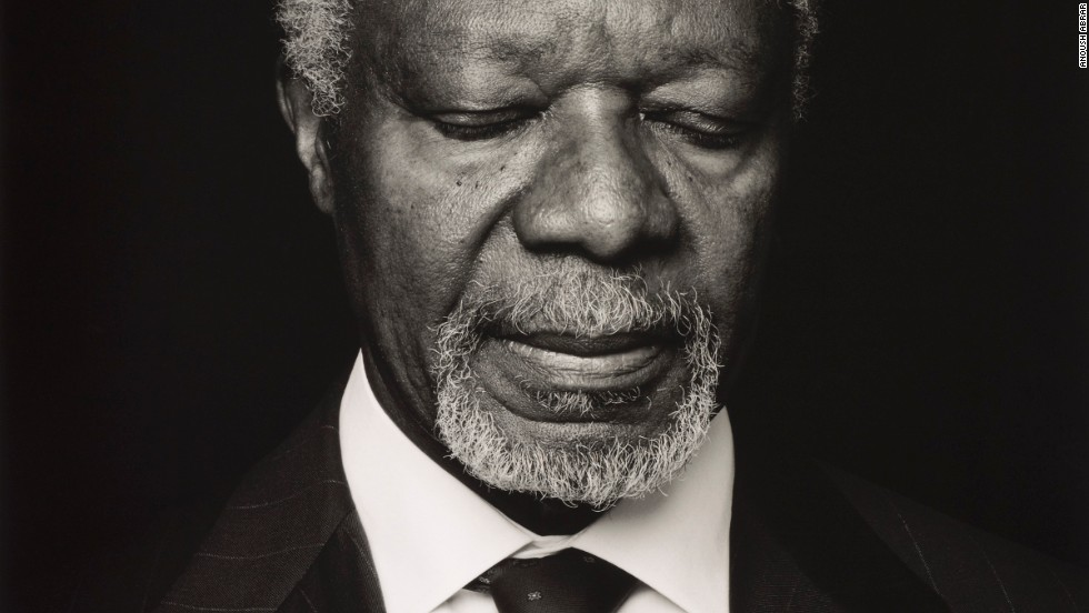 The photograph of former United Nations secretary general Kofi Annan by Iranian Anoush Abrar was awarded third place.