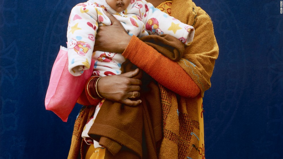 In second place was this picture of Mamta Dubey, who was on a pilgrimage to the Kumbh Mela festival in India. Photographer Giles Price took the shot in a pop-up studio outside of a hospital.