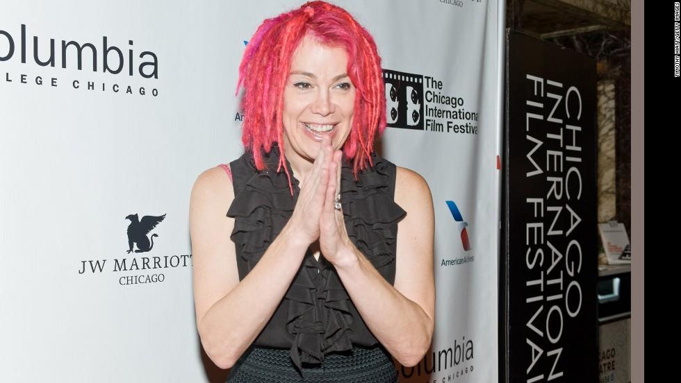 "Filmmaker Lana Wachowski attends a tribute to the late film critic Roger Ebert in October 2013 in Chicago. Born Larry Wachowski, he made the ""Matrix"" trilogy with brother Andy Wachowski before transitioning to living as a woman. Wachowski is the first major Hollywood director to come out as transgender."
