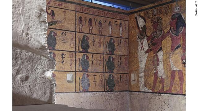 Body double: King Tut's replica tomb.