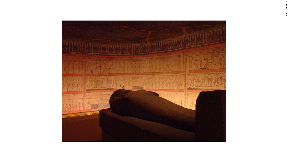The firm previously created a replica of the pharaoh Thutmose III's tomb for exhibition.