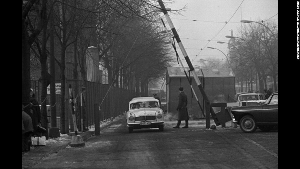 On December 20, 1963, the wall that separated the city of Berlin for 2½ years was opened for the first time at Christmas as the result of an agreement between the two mayors.