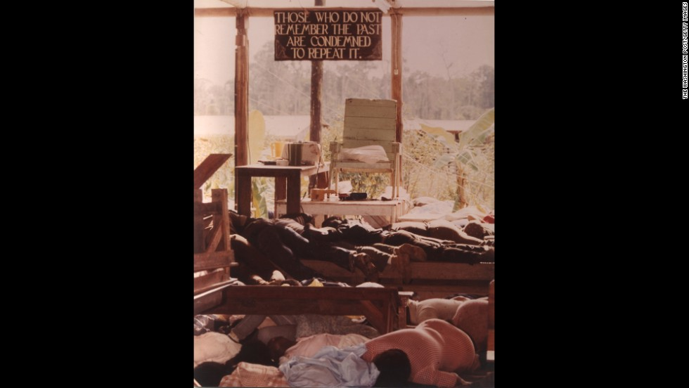 Inside the People's Temple in Jonestown. More than 900 Americans died in a murder-and-suicide ritual at the People's Temple agricultural mission.