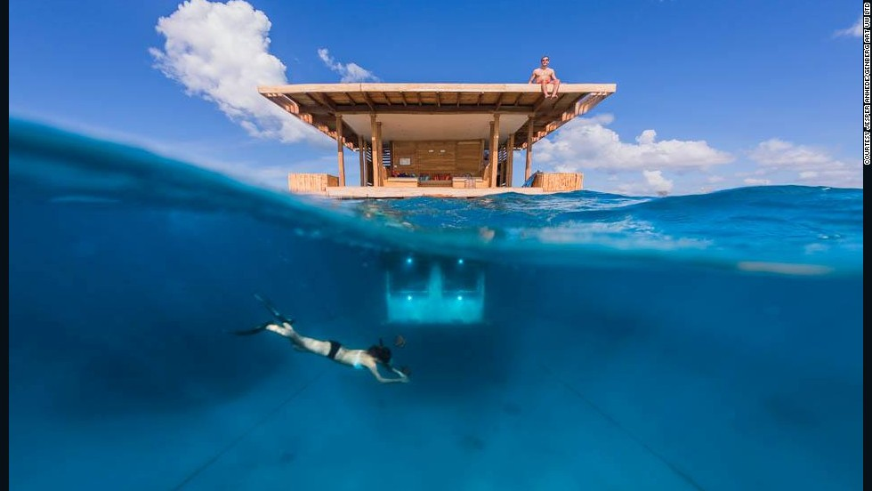 The Manta Resort on Pemba Island, off Tanzania, opened a new Swedish-designed underwater bedroom this month. The resort says six guests have stayed in the new digs so far.